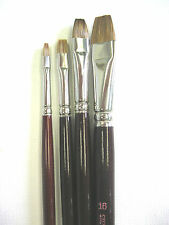 4pcs Tobgi Artist oil paint brushes Sabeline long handle  # 4-6-10-16