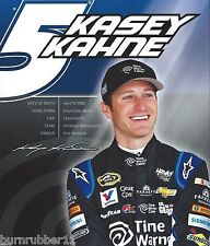 "2014 KASEY KAHNE ""TIME WARNER CABLE"" #5 NASCAR SPRINT CUP SERIES POSTCARD"