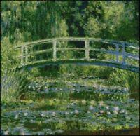 "Monet Japanese Bridge Counted Cross Stitch Kit 12x11.5"""