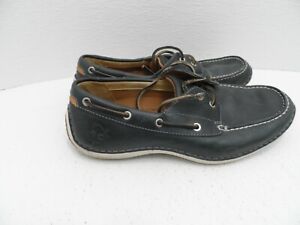 Timberland Olive Green 2 Eye Lace Up Leather Men's Shoes Boat - Size 8M