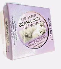 Josie Maran 20ct Bear Naked Nail Wipes LAVENDAR 3n1 Polish Remover Treatment NEW