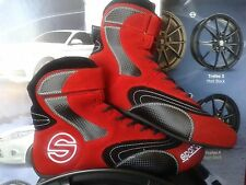 SPARCO RACE SHOES red HIGH BOOTS FIA 8856-2000 RALLY PLUS SCHUHE ROT Größe 45