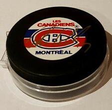 1993 John Leclair Montreal Canadiens Puck Auto
