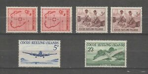 s38457 COCOS ISL. 1963 MNH** Definitives Not Complete with Hight Values