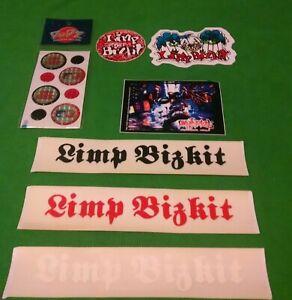 Vintage Limp Bizkit 14 piece Waterproof Vinyl Bumper Sticker/Decal/Popz Set-New