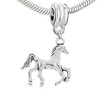 Galloping Horse Dangle Bead Charm Spacer for Snake Chain Charm Bracelet