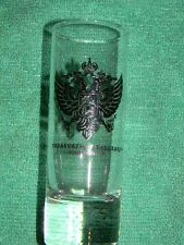 Treasures Of The Czars- shot glass- St. Petersburg, Florida- Black colored crest