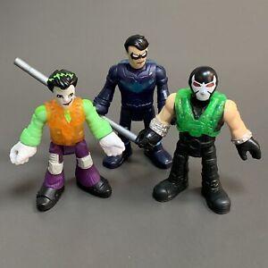 Lot 3 Imaginext DC Super Friends figure BANE The Joker Bat Tech 2021 BATMAN  #K