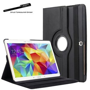 "Housse Etui Noir pour Samsung Galaxy Tab S 10.5"" T800 T805 Coque Support 360°"
