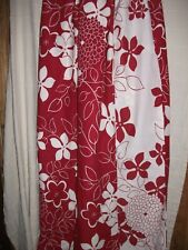 Asda Dark Red White Double Sided Floral Pattern Double Duvet Cover+2Pillow Cases