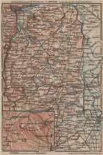 RHEINHESSEN. RHENISH HESSE. Mainz Mannheim Worms Kreuznach. Germany 1892 map