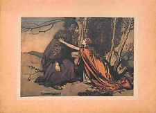 1910.Genuine.The Ring.Wagner.Opera Arthur Rackham print.Tipped-in plate.Antique
