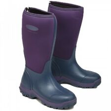 Grubs Frostline 5.0 Hi Neoprene Ladies Field Wellington Violet/Muck Boot Size 6