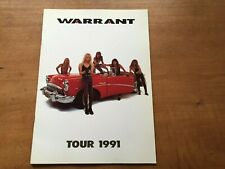 """WARRANT"" Tourbook Tour 1991 in Japan Booklet"