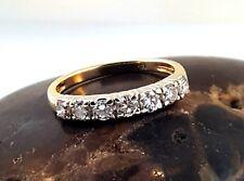 Vintage 1/2ct Diamond 14k White & Yellow Gold Wedding Band Stackable Ring Sz 4.5