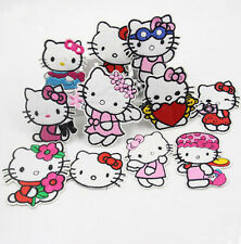 11PCS Embroidered Mixed Color Cute Hello Kitty Patch Iron on Appliques PT08