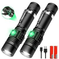 Super Bright 50000LM T6 LED Flashlight Rechargeable Zoom Torch 18650 3 Modes LED