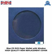 CD DVD Paper Wallet With Window High Quality Adhesive Flap Blue Cover