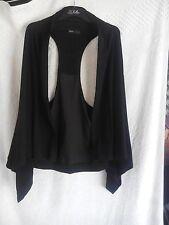 Brave by Wayne Cooper Ladies Waistcoat in Black Wrap Style Size 4 US