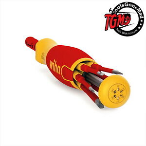 Wiha 1000V Insulated Slim Screwdriver Set Liftup Magazine Bit Holder 2831-09020