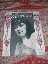 Femina. 1910. Mary Garden. Reynaldo Hahn. Mode. TBE.