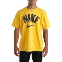 Nike Mens Yellow Standard Fit Crew Neck T-Shirt Athletic L BHFO 2086