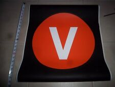 22x24 V TRAIN NY NYC SUBWAY 2nd AVE LOWER EAST SIDE MANHATTAN BROOKLYN ROLL SIGN