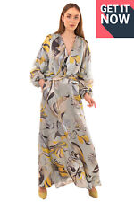 RRP€1440 EMILIO PUCCI Maxi A-Line Dress Size IT 40 / XS Silk Blend Made in Italy