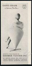 1960 Verner Panton Cone Chair woman photo George Tanier vintage print ad