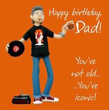 """Holy mackerel """"joyeux anniversaire papa!"""" anniversaire carte de vœux 1ST libre p&p"""