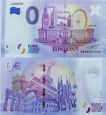 0 Euro Schein London (2020-1) - Souvenir Null € England Sammler rar