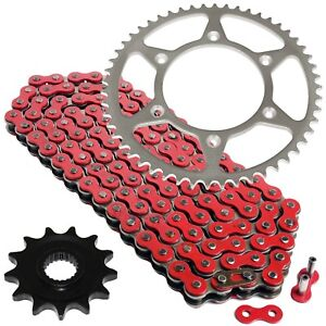 Red Drive Chain And Sprocket Kit for Honda CRF250X 2004-2017
