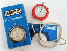 Vintage 1970's Heuer Leonidas Trackmaster Stopwatch Switzerland Red 8041 Rouge