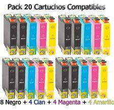 20x XL cartuchos para Epson dx8400 dx4050 dx4400 dx4450 dx5000 dx5050 d120 sx610