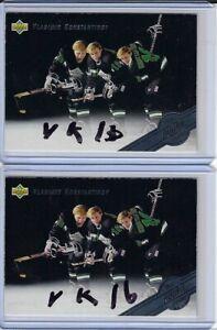 Vladimir Konstantinov 1992 Upper Deck All-Rookie Team 5 Autographed Card BLACK