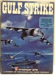 Gulf Strike Commodore 64 Big Box Software C64 1984 Avalon Hill War Simulator