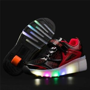 Kids Sneakers With Wheels Roller Skate Shoes Children Glowing Led Shoes
