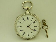 Antico orologio da tasca argento silver pocket watch