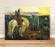 "Classical Medieval Fine Art ~ CANVAS PRINT 16x12"" ~ Vasnecov-Knight By a Grave"