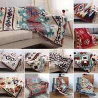 Ethnic Geometric Mat Sofa Navajo Blanket Tapestry Wall Hanging Throw Carpet 63in