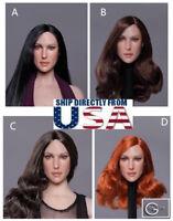 "1/6 American Female Head Sculpt GC020 For 12"" PHICEN Hot Toys Figure U.S.A."