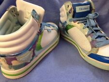 Skechers Size 8.5 8 1/2 Multi Color White Blue Green Purple High Top Sneakers