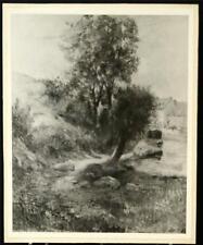 "Vintage Pont Aven Landscape Print By Paul Gauguin Black and White 11"" x 9"""