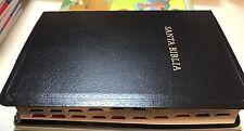 Biblia Letra Grande 1960 Tamaño Manual, Negro Imitación Piel Con índice 12 punt