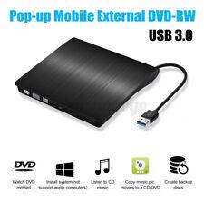 Slim External USB3.0 DVD RW CD Writer Burner Drive Reader Player For Laptop PC