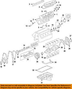 GM OEM-Engine Crankshaft Crank Main Bearing 89017572