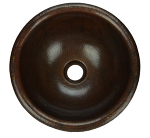 "15"" ROUND TOP MOUNT SINK 100 % COPPER HAND MADE"