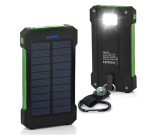 3000000mAh Waterproof Dual USB Portable Solar Battery Charger Solar Power Bank