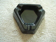 SMIRNOFF SILVER VODKA MARTINI - 1979 BLACK CERAMIC TRIANGLE ADVERTISING ASHTRAY