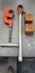 """RIDGID 12-R Pipe Threader Die Head Set 4pc Set 1/2""""  3/4"""""""